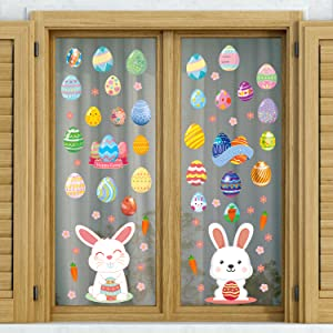 Easter bunny window cling stickers