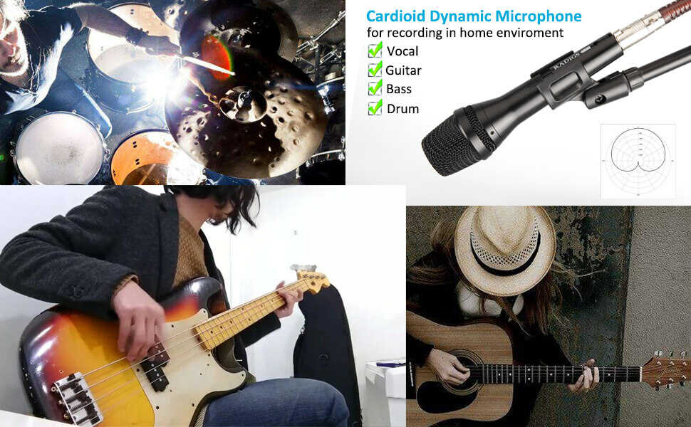 wired cord karaoke dynamic vocal microphone mics