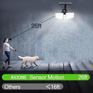 Слънчеви светлини Сензор за движение на открито