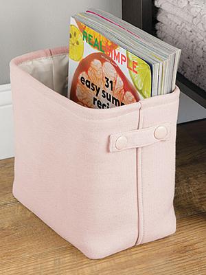 modern classic gray pink black cream brown magazine rack closet trash can wastebasket waste small