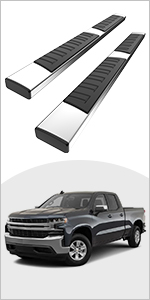 YITAMOTOR 6 inches Running Boards Compatible with 2019-2021 Chevy Silverado/GMC Sierra 1500DoubleCab