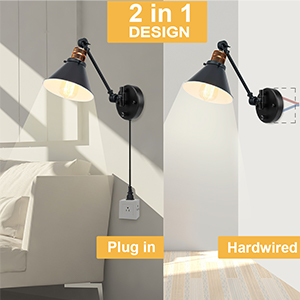 Wall lamps designed with 2 in 1 installation
