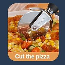 pizza cutter in kitchen