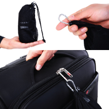 Small storage bag with spring hook