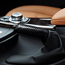 Universal Carbon Fiber Car Handbrake Cover Grip Handle Lever Brake Handle Cover for BMW