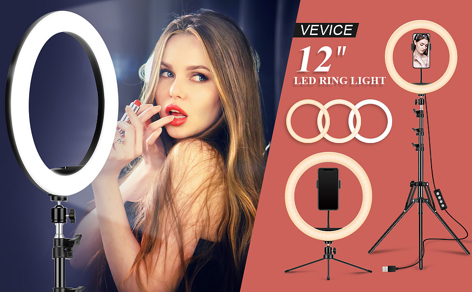 """12"""" Dual Stand Ring Light"""