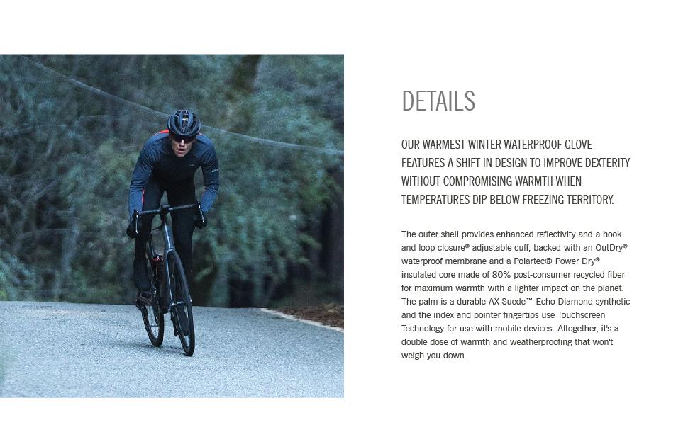 100 proof winter bike gloves details