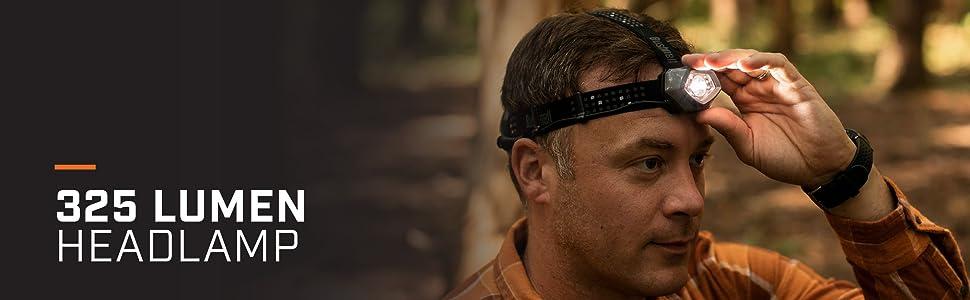 325 lumen headlamp blood tracking headlamp hunting light bright hunting tracker headband light