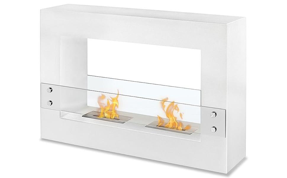Tectim White - Freestanding Ethanol Fireplace