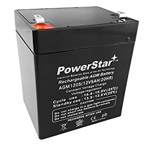 PowerStar-Razor E100 E125 E150 Electric Scooter battery 12V 5AH