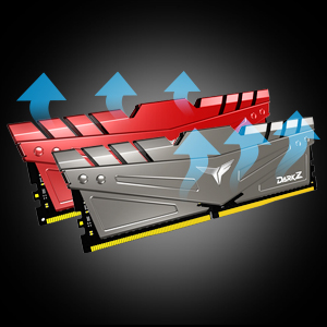 2 x 16GB Red PC4-25600 CL 16 288-Pin SDRAM Desktop Gaming Memory Module Ram 3200MHz TDZRD432G3200HC16CDC01 TEAMGROUP T-Force Dark Z DDR4 32GB Kit