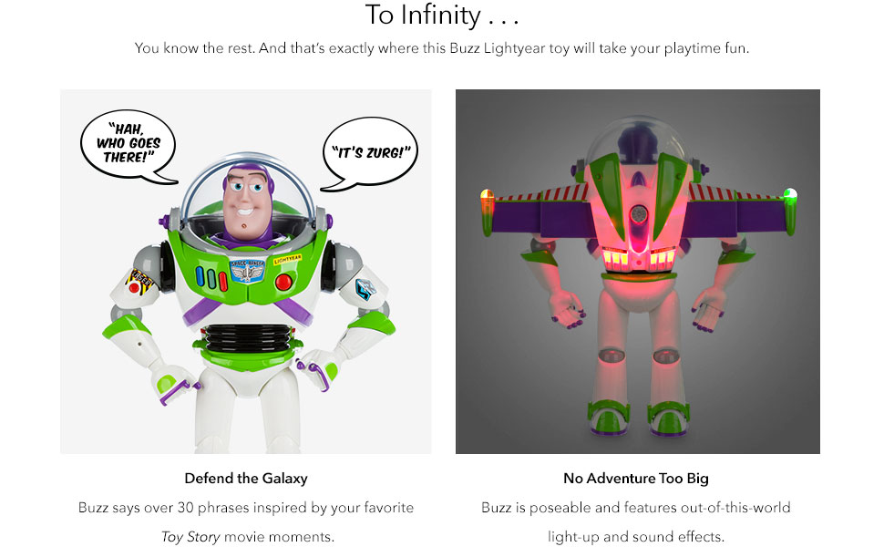 Buzz Lightyear Talking Action Figure imaged with a few articulation points and light up wings