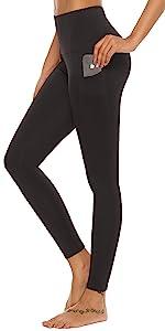solid color black yoga leggings