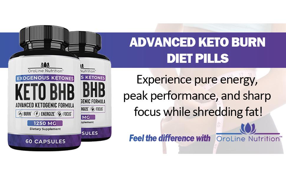 advanced keto burn diet pills exogenous ketones bhb supplement