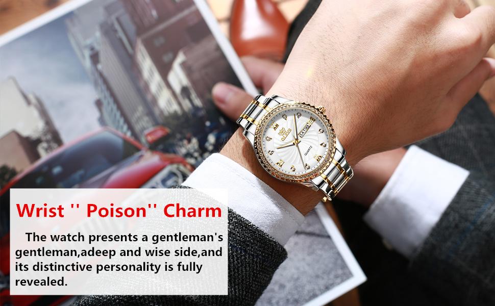 Gold Luxury Best Watches for Men Calendar Brand Fine Wrist Watch relojes pulsera de hombre