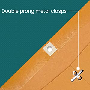 Double prong metal clasps