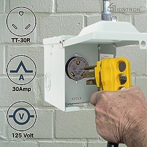 Sintron RV Power Outlet Box