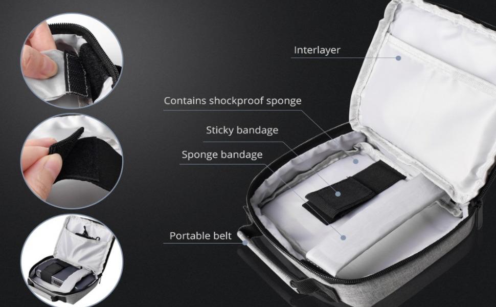 gran capacidad para cables y fuente de alimentacion del proyector mini portatil led optoma wimius