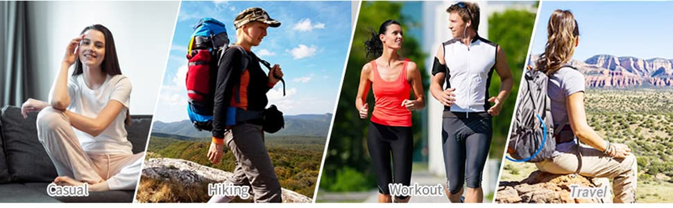 Women's hiking long shorts for outdoor hiking,running,golf,travel