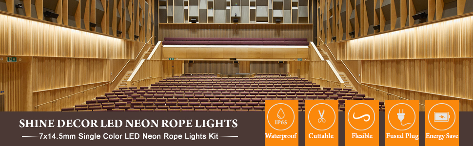 shine decor led neon rope light 25m warm white flexible tube 3000k 220v 240v led strip light