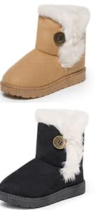 Baby Toddler Girl Black Boots Babies Boots Snow Boy for Girls Winter Boys