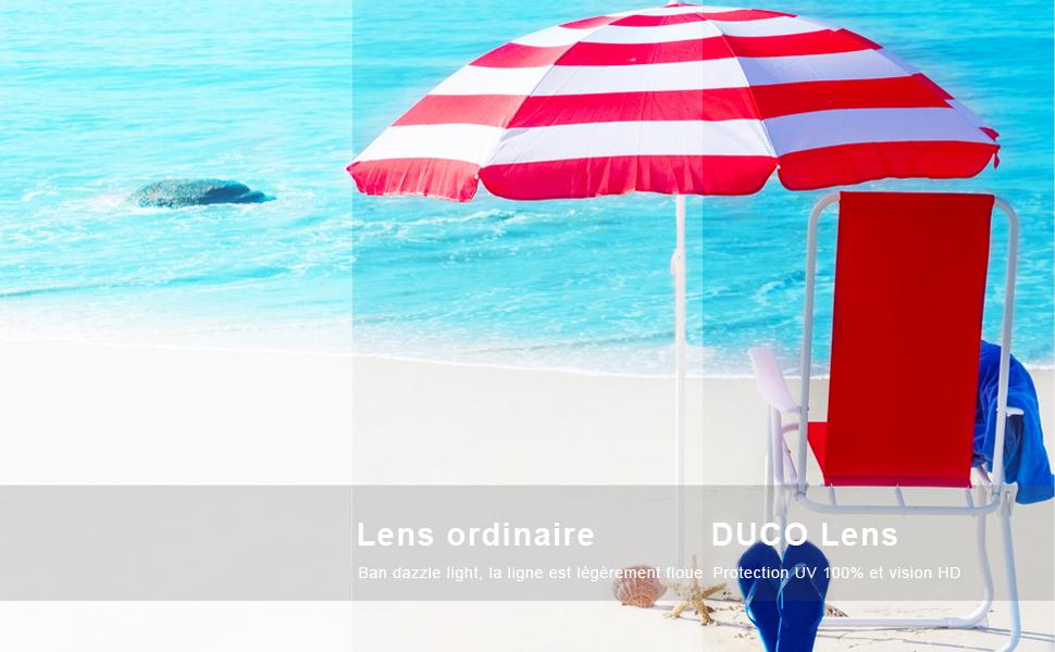 Duco Lunettes de Soleil Femme Polaris/ées Mode R/étro Vintage la Protection UV 400 pour Conduire Voyager DC1230