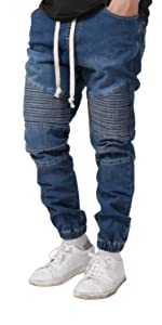 mens slim fit biker jogger pants
