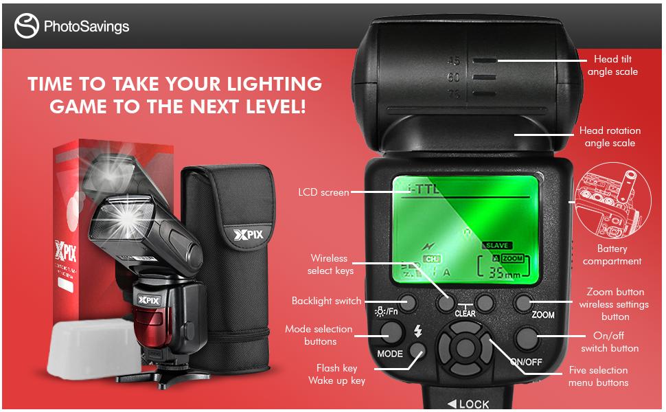 XPIX Digital Flash Canon