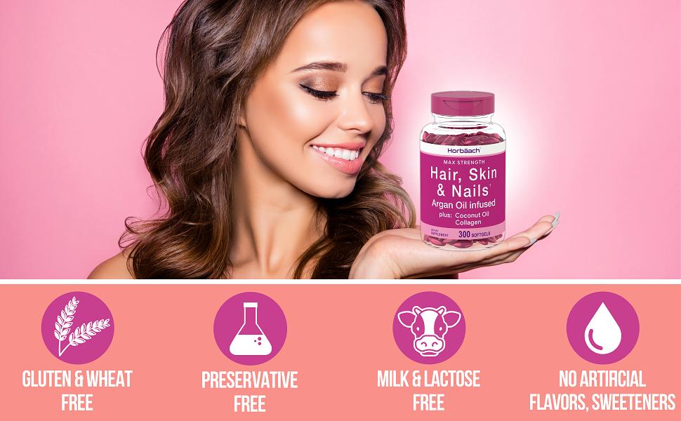 free of gluten, preservative, milk flavor sweetener