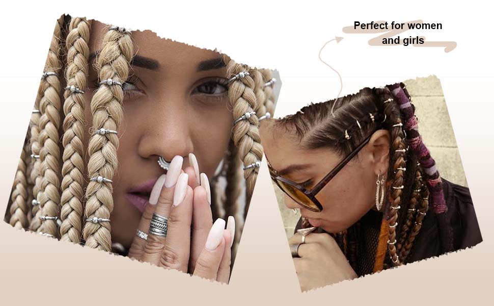10Pcs Boho Plastic Beads Dreadlocks DIY Braid Decor Female Hair Accessories
