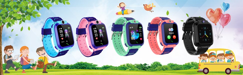 kids smartwatch Music Game SOS Smart Watch Kids Camera Learning Gifts for Boys and Girls Birthday