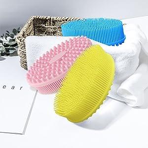 silicone body brush,bath scrubber