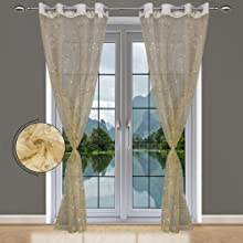 Peach Sheer Curtains