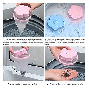 Poils danimaux Machine /à Laver SEGMINISMART Poils Animaux Nettoyage Outil Filtre de Cheveux Net Flottante Outil de Nettoyage Filtre /à Cheveux pour Nettoyer Poils d/'Animaux Domestiques