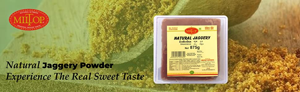 Miltop Natural Jaggery, 875g SPN FOR 1