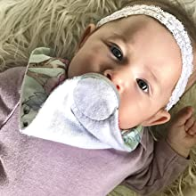 Baby bibs and pacifier