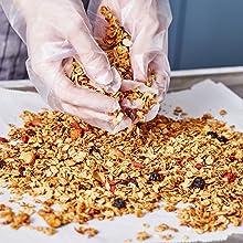 amazin' graze granola ingredients mixed by hand