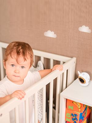 Eye babymonitor camera infant baby bed tripod