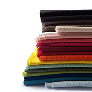 Canvas Cotton Fabric - Solid Colored Swatches