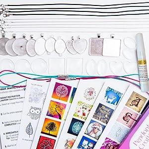pendant jewelry kit box gift birthday girl