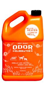 Citrus pet odor eliminator and odor remover.