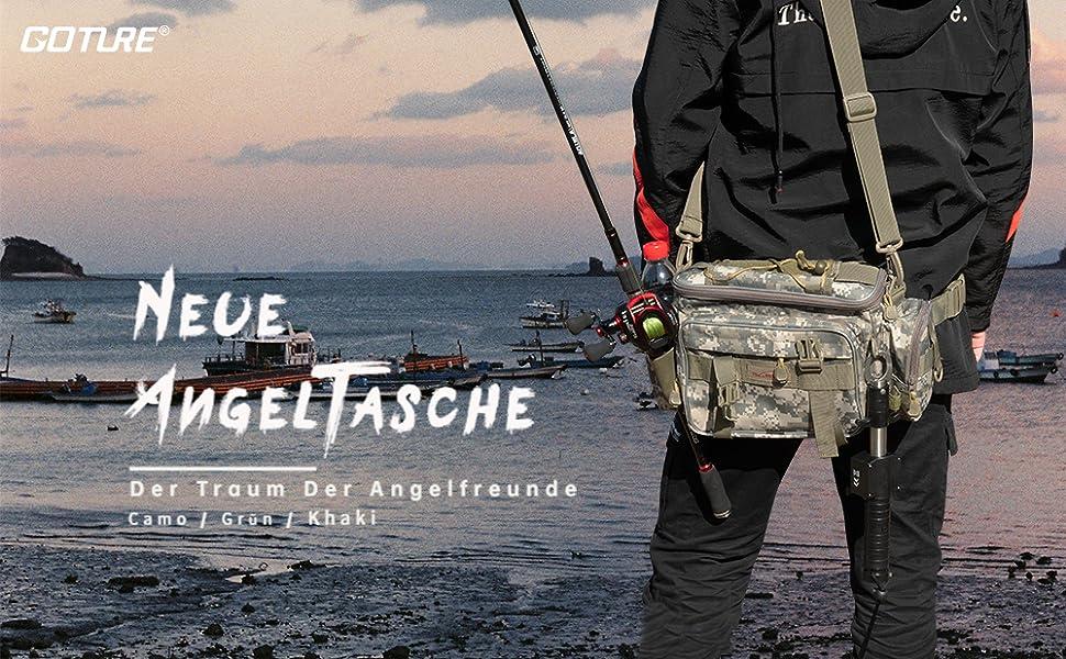 Goture Ger/ätetasche Multi Function Angeltasche Wasserdicht Angeln Camping Reiseausr/üstung