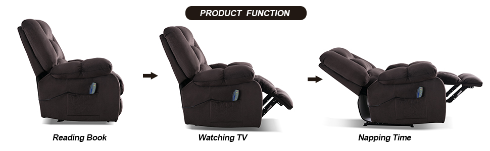 MANUAL RECLINER CHAIR WITH MASSAGE