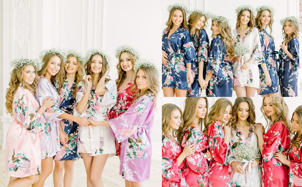 floral robes for women