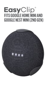 Google Home Mini, PowerClip, GHM, outlet adapter, mount powerclip, clip, hands-free, cordless,