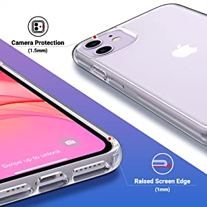 iPhone 11 case clear for girls women heavy duty protection screen camera protection