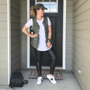 Lightweight Vest Jacket with drawstring