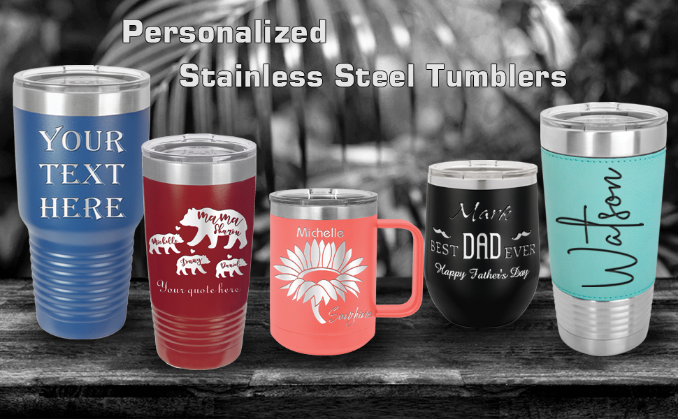 personalized stainless steel coffee mugs