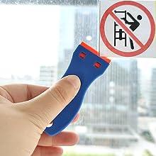 scraper tool for stickers,plastic scraper tool,sticker remover tool,tint remover,plastic  scraper
