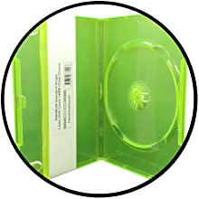 clear green dvd cases
